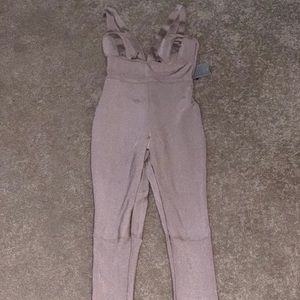 Blush pink strap jump suit